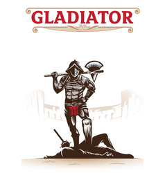 gladiator vector image