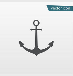 gray ship anchor icon isolated on background mode vector image