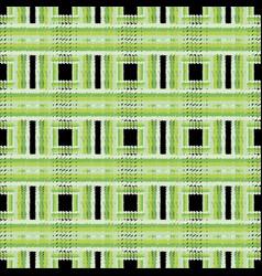 grunge checkered green seamless pattern vector image