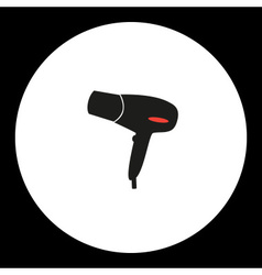 Hairdryer simple isolated black and red icon eps10 vector