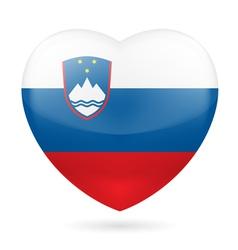 Heart icon of Slovenia vector