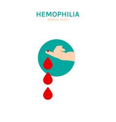 Hemophlia icon vector