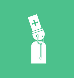 Icon doctor with stethoscope vector