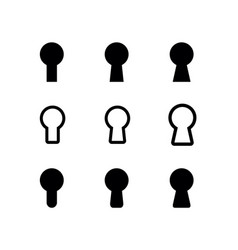 key hole shape set vector image