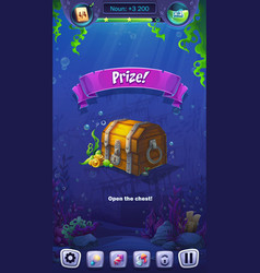 mahjong fish world - mobile format prize field vector image