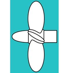 Marine propeller vector