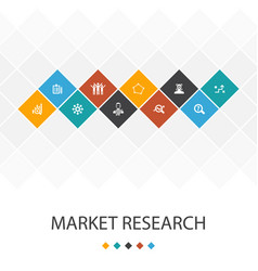 Market research trendy ui template infographics vector