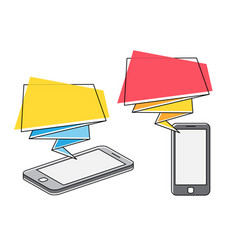 Mobile advertising and marketing vector