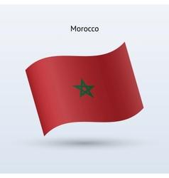 Morocco flag waving form vector