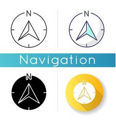 Navigator arrow icon vector