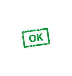 ok stamp texture rubber cliche imprint web or vector image