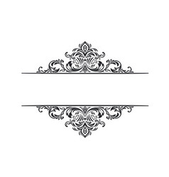 ornate frame scroll element vector image