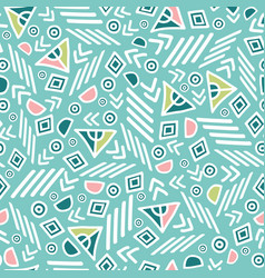 Pastel tribal abstract seamless repeat pattern vector