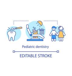pediatric dentistry concept icon vector image