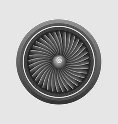 Plane engine turbine template vector