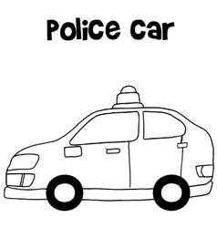 Police car art vector image