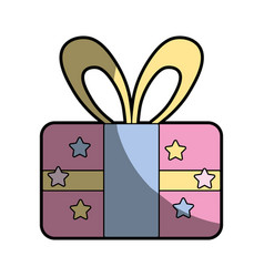 Present gift to celebrate special day vector