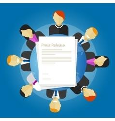 Press release news paper publication vector