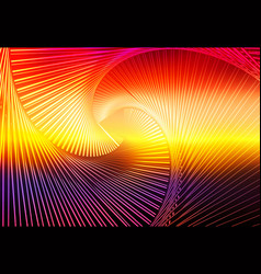 Purple orange yellow red brown glowing spiral vector