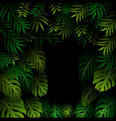 Seamless exotic pattern with tropical leaves on a vector