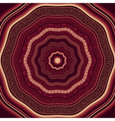 Seamless Marsala Ethnic Pattern vector image