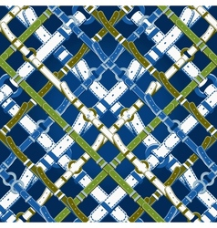 Seamless Pattern in Nautical Style With Belts vector image