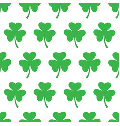 Seamless pattern with trefoil clover vector