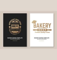 set bakery shop badge concept for badge vector image