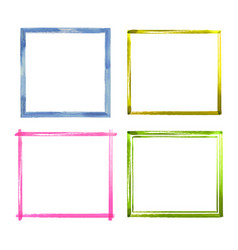 set of watercolor color grunge frames vector image