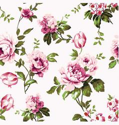 Shabchic vintage roses seamless pattern vector