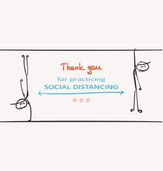 social distancing covid-19 banner stop spread vector image