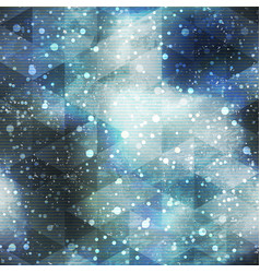 Space seamless pattern with grunge effect vector