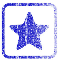 Star framed textured icon vector