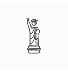 Statue of Liberty sketch icon vector