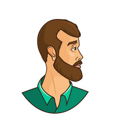 stylish bearded manside view vector image