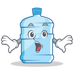 Surprised gallon character cartoon style vector