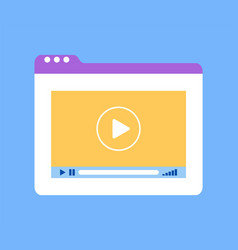Tablets window with video tutorial of website vector