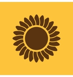 The sunshine icon Sunrise and sunshine weather vector image