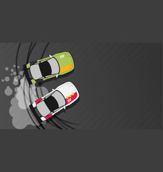top view of a drifting car vector image