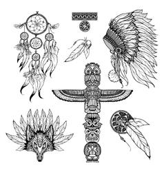 Tribal Doodle Set vector image