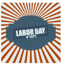 vintage design poster for the us labor day vector image