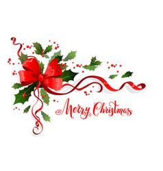 winter merry christmas decor vector image