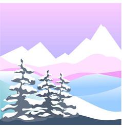 winter snow four seasons nature landscape vector image