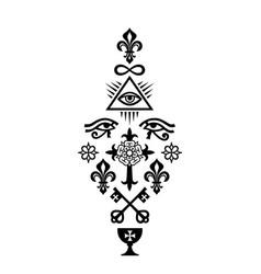 christian column symbols of faith vector image