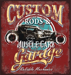 custom rod garage vector image