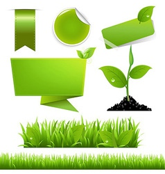 Green Eco Set vector image