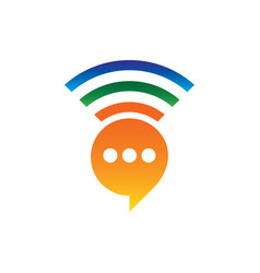 Network chat icon logo image vector