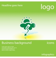 Weather business background vector image vector image