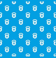 kettlebell pattern seamless blue vector image vector image