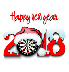 new year numbers 2018 and darts vector image
